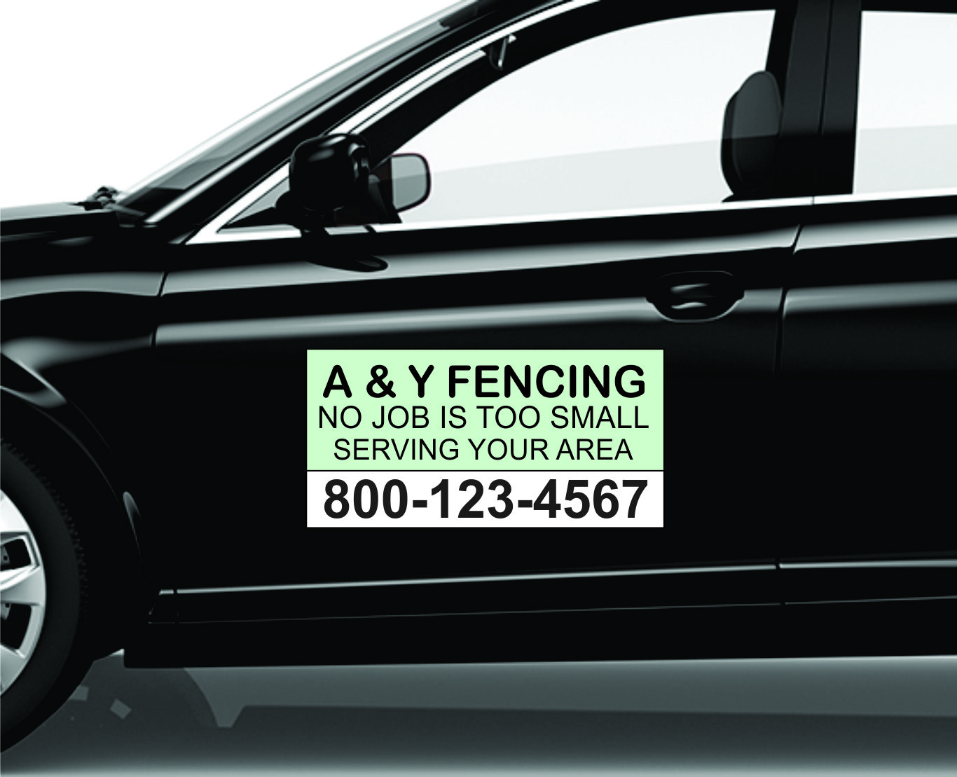 K-9 Security Black Car Door Magnets Magnetic Signs-Qty 2